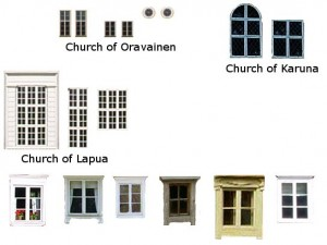 Finnish 18th & 19th century windows samples