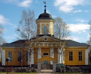 Frontal view of the Church of Oravainen