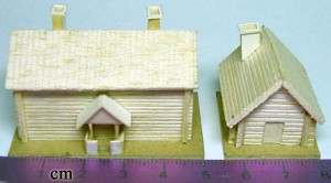 Assembled buildings on bases