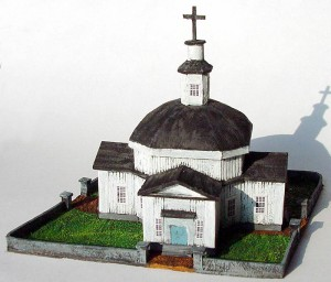 Front view of the painted model