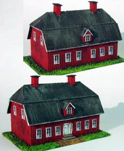 Vicarage model painted