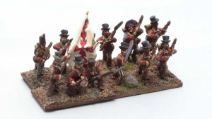 Battalion of brown-clad Spaniards