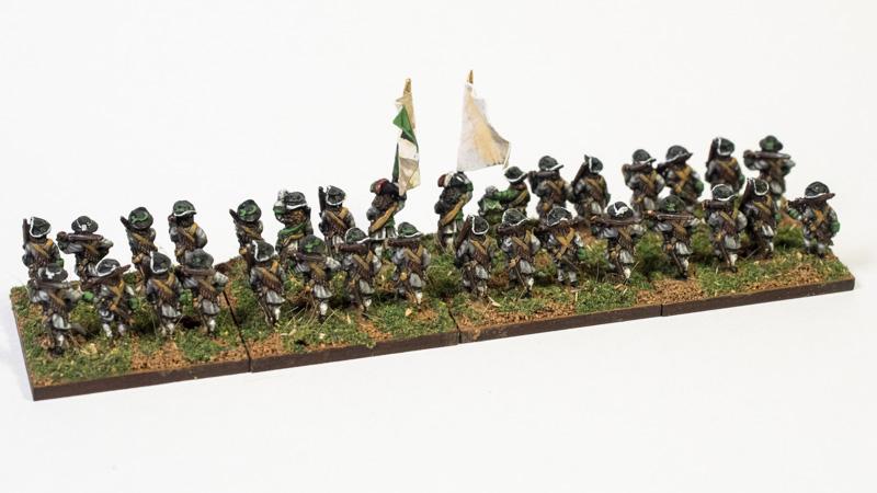 Pendraken figures, LOA6 Matchlockmen Marching