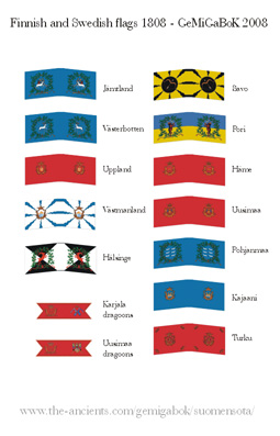 Finnish and Swedish flags
